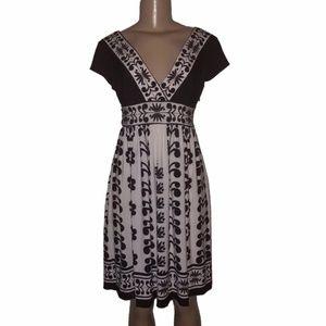 MAGGY LONDON Scroll Floral Asymmetrical Dress 4 XS